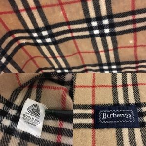 Burberry Accessories - Authentic vintage Burberry shawl/ scarf pure wool